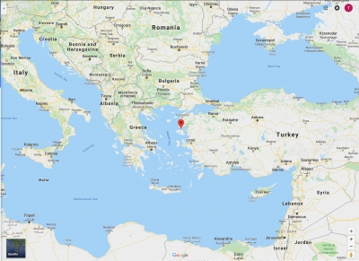 Map of Lesbos