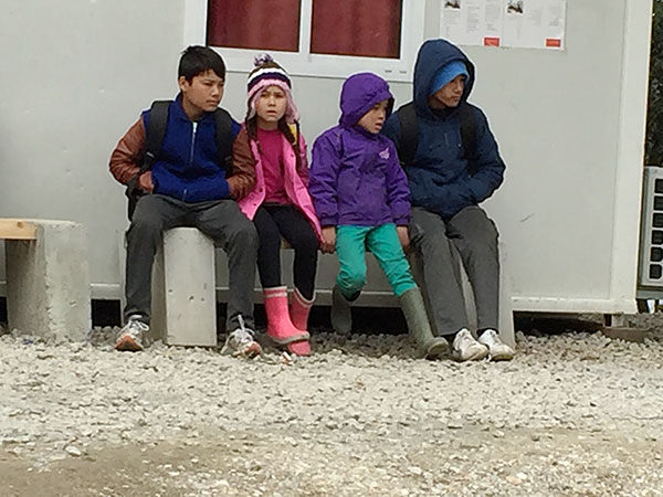 Children in the refugee camps