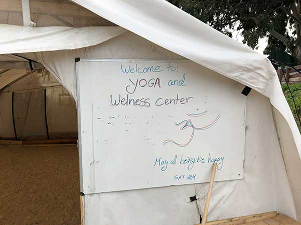 yoga for refugees