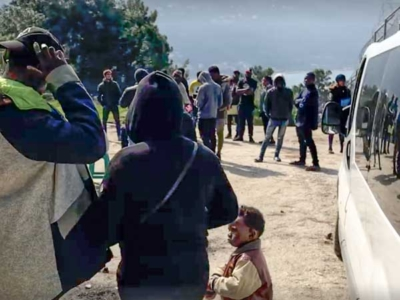 Refugees awaiting medical Attention