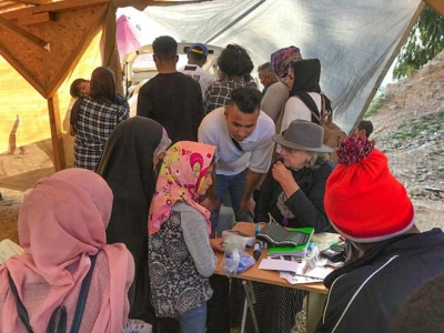 Samos HOG Refugee Medical Tent