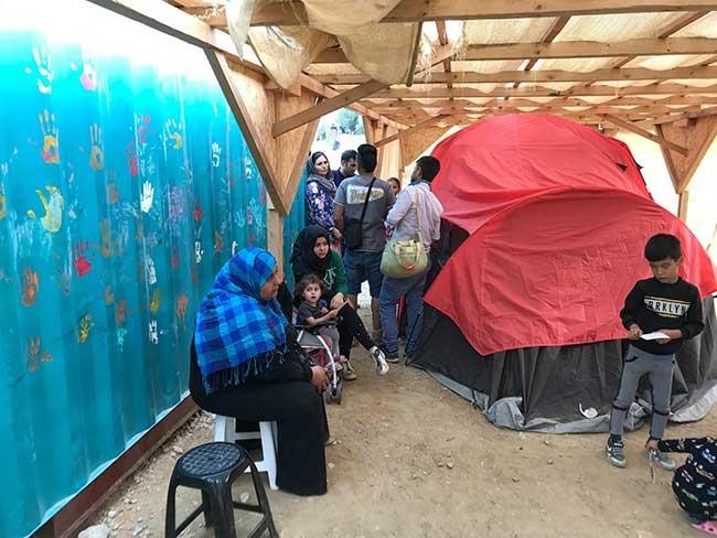 Samos Refugee Medical Tent