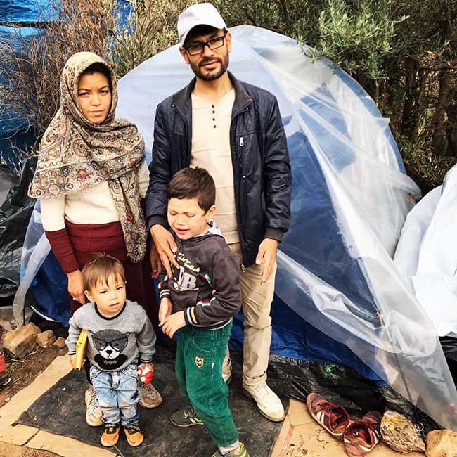 Samos Refugee Family