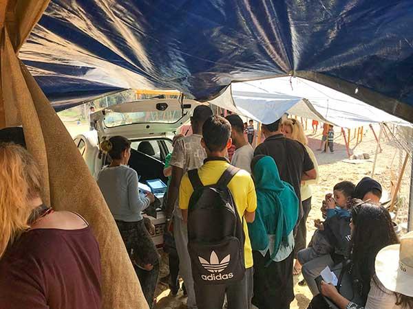 Samos Refugee Camp